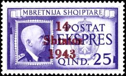 1 - 25 Q Aufdruckausgabe Und 5 Q - 3 Fr. Freimarkenausgabe, Gebiet In Den Hauptnummern Komplett, Tadellos Postfrisch, 3  - Albania