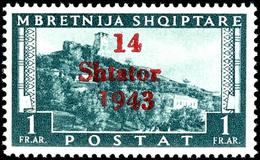 """1 Fr Landschaften Mit Aufdruckfehler VI """" '1' Von '1943' Verkürzt"""", Tadellos Postfrisch, Unsigniert, Fotobefund Brunel V - Albania"""