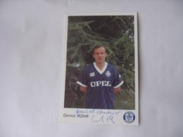 Football - Autographe - Carte  Signée Gernot Rohr - Football