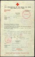 1944, 6.3., Rotkreuz-Formblattbrief Von London über Genf Nach Guernsey, Wegen Der Inzwischen Erfolgten Invasion Nicht We - [ 9] Duitse Bezette Gebieden