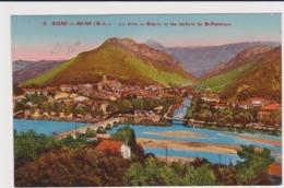 Digne La Ville La Bléone Et Les Rocher De St Pancrace - Digne