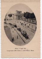 MILANO - 1876 INAUGURAZIONE TRANVIA A CAVALLI MILANO MONZA - S. T. E. L. - NON VIAGGIATA - Milano (Mailand)