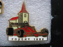 Pin's Sport Auto / ASA Rhin / Fouchy 1992 - Voiture Rouge.   Zamac - Rally