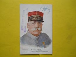 Joffre ,par Bouchor ,american Red-Cross ,hopital Militaire Broussais - Characters