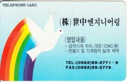 SOUTH KOREA - Rainbow, Dove(tel:0562 85-2771)(W3000), 03/95, Used - Corée Du Sud