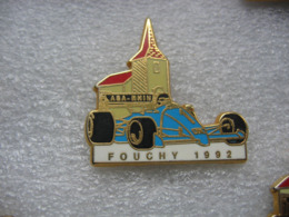 Pin's Sport Auto / ASA Rhin / Fouchy 1992 - Voiture Bleue.   Zamac - Rallye
