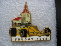 Pin's Sport Auto / ASA Rhin / Fouchy 1992 - Voiture Jaune.   Zamac - Rally