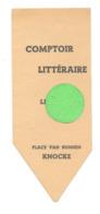 """Marque-pages - """" COMPTOIR LITTERAIRE  """" Librairie - Livres à . KNOKKE / KNOCKE  (b260/5) - Marque-Pages"""