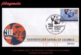 AMERICA. COLOMBIA SPD-FDC. 2019 90 AÑOS DE LA RADIO EN COLOMBIA - Colombia