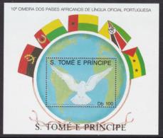 BLOC NEUF DE SAINT-THOMAS - 10E SOMMET DES PAYS AFRICAINS DE LANGUE OFFICIELLE PORTUGAISE N° MICHEL 174 - Other