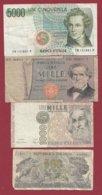 Italie 4 Billets Dans L 'état (25) - Italia