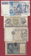 Italie 4 Billets Dans L 'état (28) - Italia
