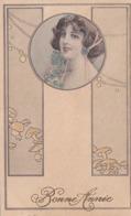 Cpa-ill-theo Stroefer-pas Sur Delc.-femme Dans Medaillon, Champignons-art Nouveau-style Vienne / Viennoise-serie 497 N°3 - Autres Illustrateurs