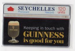 SEYCHELLES Ref MV Cards : SEY-17 120 U CN 201A GUINNESS BEER  Année 1992 8000ex - Seychelles