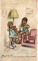 ILLUSTRATEUR SIGNEE GERMAINE BOURET TOTO AU TELEPHONE - Bouret, Germaine