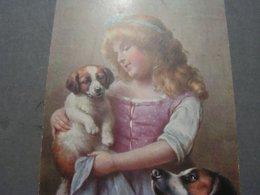 Schönes  Mädchen Mit Hund Portrait, Fillet, Girl, Child 1918 Aus Pforzheim - Abbildungen