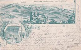 2515      89           Gruss Vom Oelberg, Panorama Und Aussicht Vom Oelberg.- Restauration Oelberg. (Poststempel 1895 - Koenigswinter