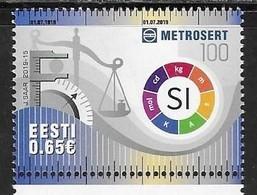 ESTONIA , 2019, MNH, REDEFINITION OF METRIC SYSTEM UNITS, 1v - Scienze