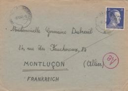 LETTRE REICH. 19 11 43. FIRMA KELLUER IMMENSTAAD ( BODENSEE) POUR LA FRANCE. CENSURE - Cartas
