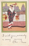 Art Deco Woman With CHRISTMAS Gifts , 00-10s - Natale