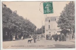 CPA- CHATEAU-CHINON-Le Boulevard De La République-1909-trés Animée- Dép58-2scans -TBE - Chateau Chinon
