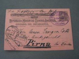 Nicaragua 1898 Nach Pirna über New Orleans Ankuft 1899 - Nicaragua