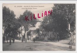 Digne Entrée Du Boulevard Cassendi Et Du Boulevard Thiers - Digne