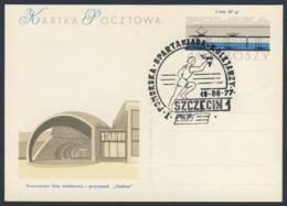 Poland Polska Polen 1977 Karte Card – I. Pomeranian Spartakiade Eisenbahner, Szczecin - PKP (Polnische Staatsbahnen AG) - Treinen