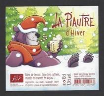Etiquette De Bière D'Hiver   -  La Piautre  -  Brasserie Des Bières D'Anjou à La Ménitré   (49) - Thème Ours - Beer
