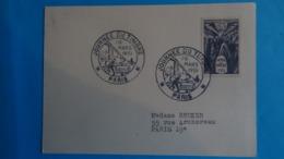 CARTE JOURNEE DU TIMBRE 10 MARS 1951 - Intérieur D'un Wagon-poste 12f+3f Gris Violet Cote 4,60€ - Covers & Documents