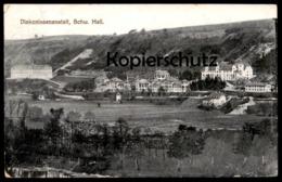ALTE POSTKARTE DIAKONISSENANSTALT SCHWÄBISCH HALL Krankenhaus Hospital Im Vordergrund Teich Ansichtskarte Cpa Postcard - Schwaebisch Hall
