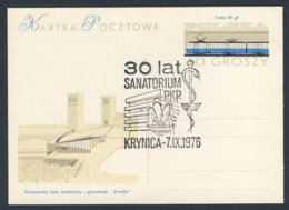 Poland Polska Polen 1976 Karte Card – 30 Jahre Sanatorium, Krynica - PKP (Polnische Staatsbahnen AG) - Treinen