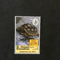 ST VINCENT & THE GRENADINES. GOPHER TORTOISE. MNH. 5R1207D - Turtles