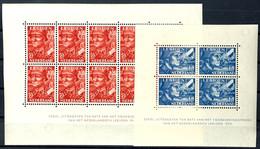 1942, Blockausgabe Legion, Blockpaar Komplett, Tadellos Postfrisch, Unsigniert, Mi. 250.-, Katalog: Bl.1/2 ** - Paesi Bassi