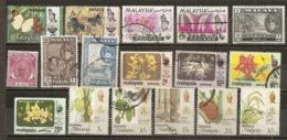 Malaisie Malaysia Pahang Nice Range Incl Papillons, Fleurs, Produce Flowers Butterflies Etc - Pahang