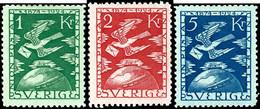 1924, 5 Ö. Bis 5 Kr. UPU, Ungebraucht In Normaler Zähnung, Mi. 750,-, Katalog: 159/73 * - Schweden