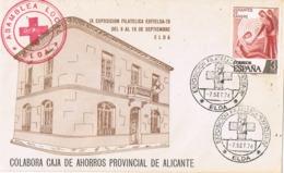 34558. Carta Exposicion ELDA (Alicante) 1976. Asamblea CRUZ ROJA De Elda - 1931-Hoy: 2ª República - ... Juan Carlos I