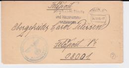 German Feldpost WW2: To Marine-Nachrichten-Offizier  Hjorring (Jutland) In Denmark FP 08001 From A 1. Marine- - Militares