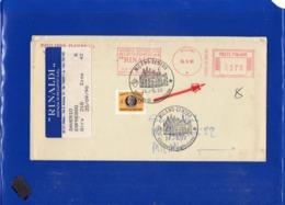 ##(DAN1911)-Italia - 24 -9- 1990 -  Recapito Autorizzato L.370  Su Busta Agenzia Recapito Espressi Rinaldi  -EMA - 1981-90: Poststempel