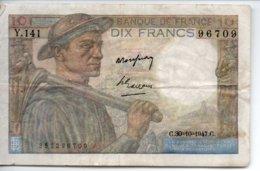 10 FRANCS  30 - 10 - 1947 - 1871-1952 Gedurende De XXste In Omloop