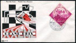 15484 MONACO N°574° 1F 20é. Grand Prix Automobile De Monaco  OSI  Du 6.6.62  TB - FDC