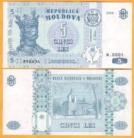 2006 Moldova ; Moldavie ; Moldau    5 LEI   898634 UNC - Moldavië