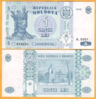 2006 Moldova ; Moldavie ; Moldau    5 LEI   898634 UNC - Moldavia