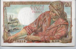 20 FRANCS  10 - 2 - 1944 - 1871-1952 Antichi Franchi Circolanti Nel XX Secolo
