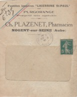 Nogent-sur-Seine (Aube) : Env. Commerciale De La Pharmacie Ch. PLAZENET ... Pastilles Laxatives, Purgatif ... - Altri
