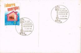 34561. Postal BARCELONA 1982. Exposicion FINUSGAB 82, Font Canaletas. TIBIDABO - 1931-Hoy: 2ª República - ... Juan Carlos I