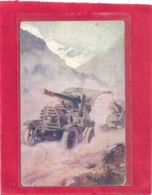 """SERIE  """" AUTOMOBILISTI  """"  N° 2  -  AUTOCANNONI  - CARTE ECRITE LE 24 JANV 1918 AU VERSO . 2 SCANES - Italien"""