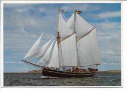 "Sailing Vessel - Training Vessel: "" Kvartsita"" - Sweden.  # 0913 - Voiliers"