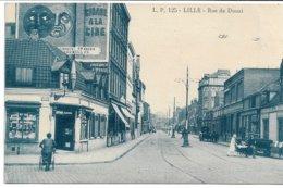 CPA NORD 59 LILLE Rue De Douai (quartier De Moulins-Lille)  Estaminet Juvenal -Alavoine Coin Rue D'Arras LP N°125 - Lille
