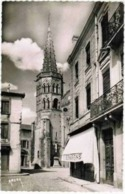 "CPSM MURET - L'Eglise - ( Commerce "" L'Epargne "" ) - 12/04/1954 - Muret"